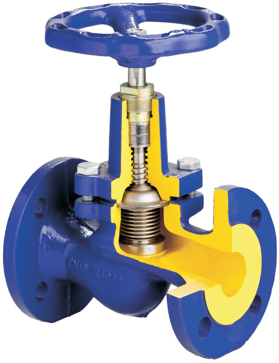 Клапан запорный проходной сильфонный, импортного пр-ва